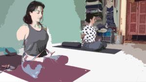baddha padmasana Aum Home Yoga